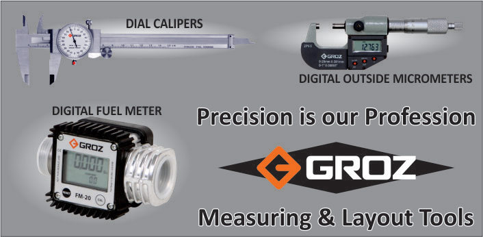 Precision is our profession - Groz - Measuring & Layout Tools.